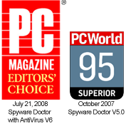 Spyware Doctor 'Best AntiSpyware Software' - PC World, October 2007